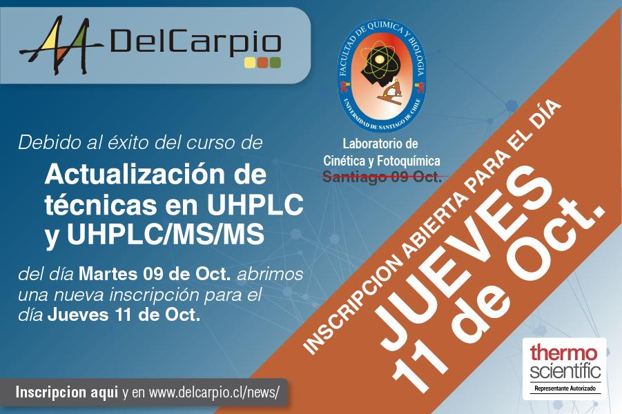 Curso Actualización de Técnicas en UHPLC Y UHPLC/MS/MS – 11 Octubre 2018